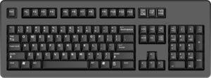 Клавиатура черного цвета