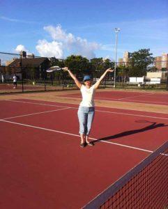 Бруклин. Кайзер Парк. Теннисные корты.