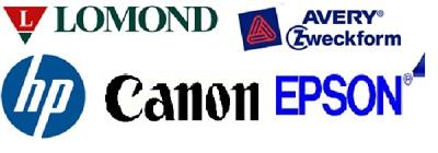 Lomond, Zweckform, HP, Canon, Epson Logos