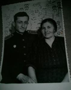 Мама и я. 1951г