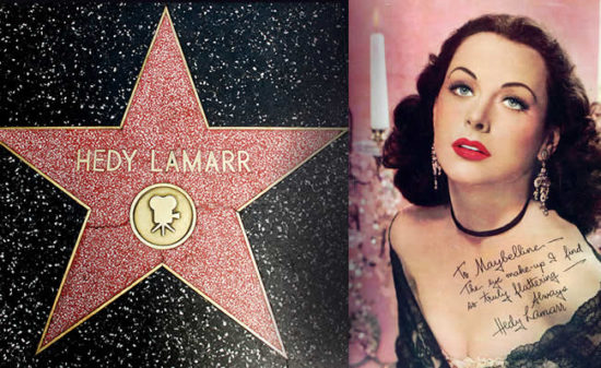 Звезда Хеди Ламарр на Аллее Звёзд в Голливуде