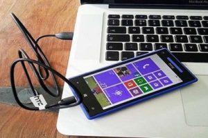 Соединение Nexus 7 с PС через USB кабель.
