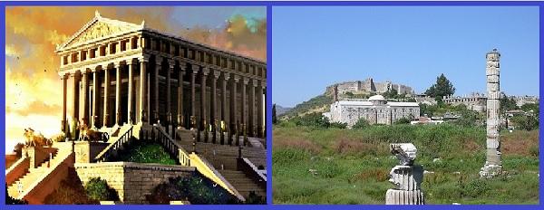 Храм Артемиды. Реконструкция. Руины
