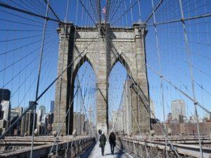 Cтальные канаты Бруклинского моста.