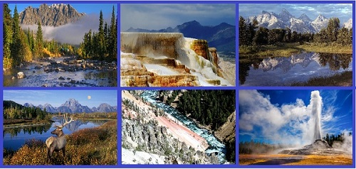 Пейзажи Йеллоустонского национального парка