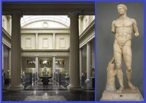 Вид Белого дворика Леона Леви и Шелби Уайт. Римская копия с греческой статуи V века до н. э.