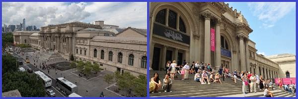 Площадь и центральный вход в МЕТ музей