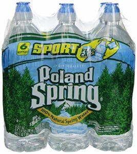 Poland spring water. $0.50