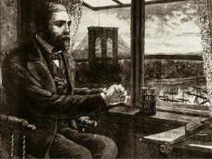 Вашингтон Роблинг наблюдает за строительством моста