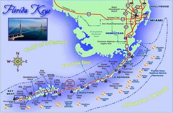 Карта Ки-Уэста