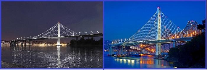 Мост Бэй-Бридж между Сан-Франциско и Оклендом