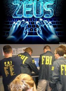 Сотрудники ФБР во время задержания группы хакеров