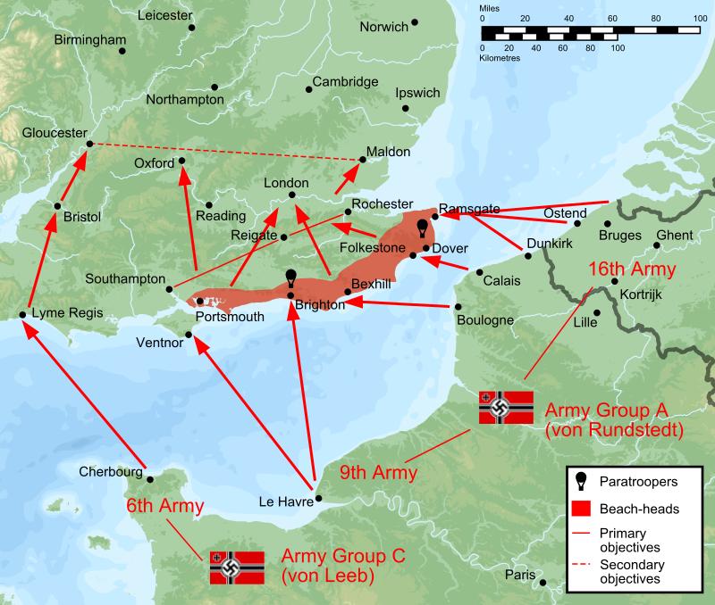 План операции десантирования немцев на Британские острова