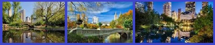 Виды Центрального парка в Нью Йорке