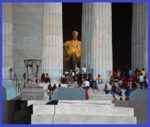 Шестиметровая статуя Авраама Линкольна в Мемориальном комплексе