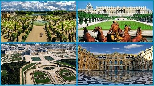 Виды королевского дворца Версаль.Франция