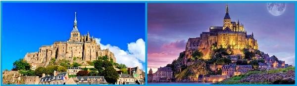 Замок и аббатство Мон-Сен-Мишель. Виды