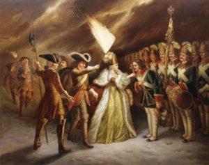 Присяга Преображенского полка Елизавете Петровне