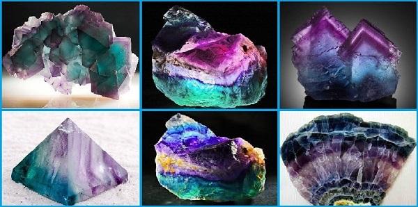 Разновидности флюорита