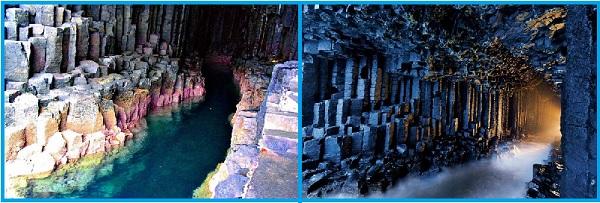 Фингалова пещера.Вид изнутри
