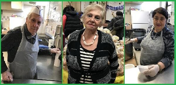 Волонтёры на кухне: Боря, Майя, Инга