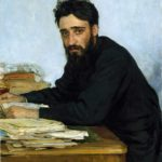 И. Репин. Портрет В. М. Гаршина.