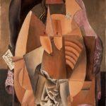 П.Пикассо.Женщина в сорочке,сидящая в кресле.(Ева)1913.
