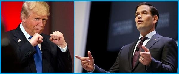 Дональд Трамп и сенатор Марко Рубио Против перевода стрелок.
