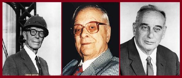 Cтроители Верразано моста Othmar Herrmann Ammann, Милтон Брумер, Роберт Мозес.