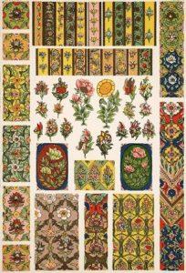 Арабески. Цветочный орнамент. Персия.