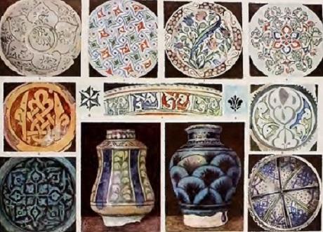 Арабский орнамент на керамике.