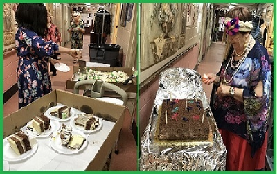 Зажигание свечей на праздничном торте - Раздача вкусного торта