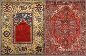 Турецкий и Персидский ковры.