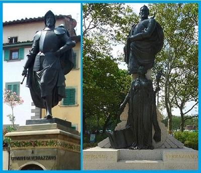 Памятники Джованни Верразано в Греве-ин-Кьянти и Нью Йорке