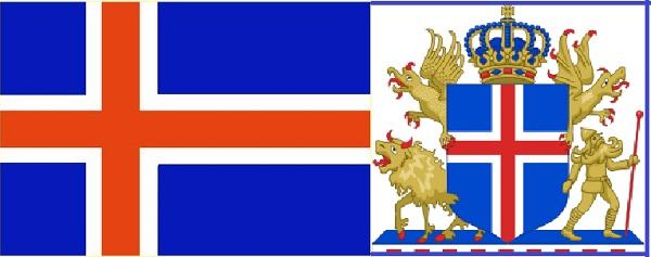 Флаг и герб Исландии