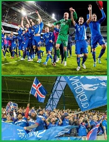 Сборная по футболу Исландии и ее болельщики