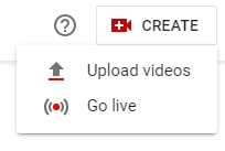YouTube CREATE Upload videos
