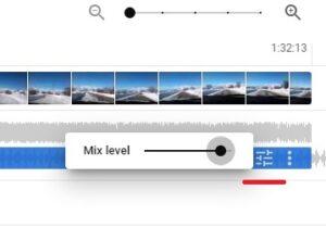 Adjust Mix level